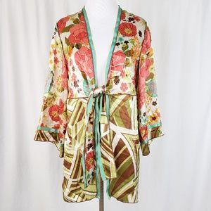 NEW Cabi Silk Floral Sushi Date Kimono